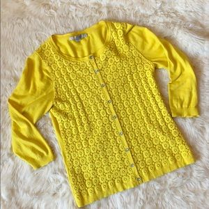 Boden yellow cardigan size 10